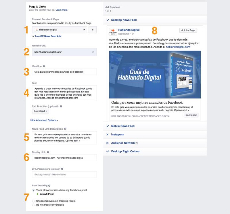 Anatomia del anuncio de Facebook - Hablando Digital