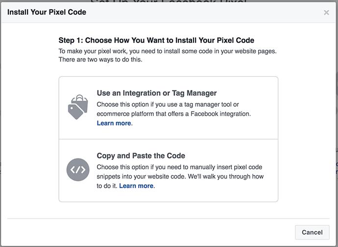 Pixel de Facebook Instala