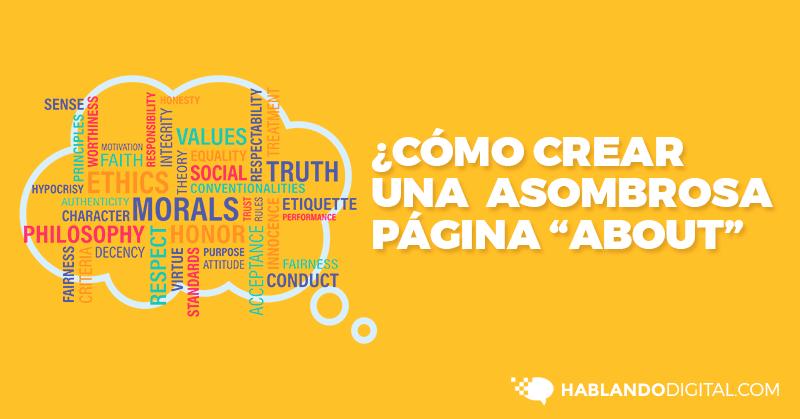 Cómo, Crear, Página, Acerca, Nosotros, About, Us, Web, Hablando Digital