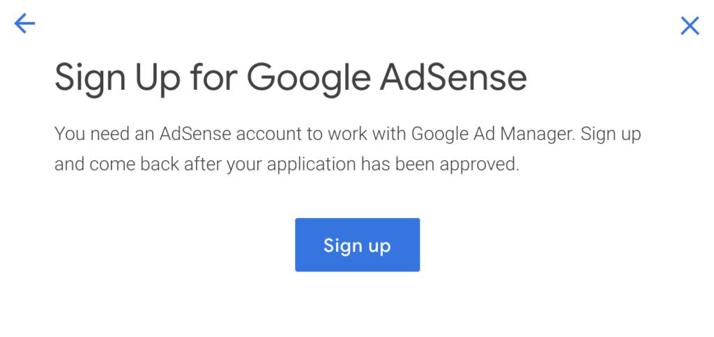 Crear cuenta de Adsense