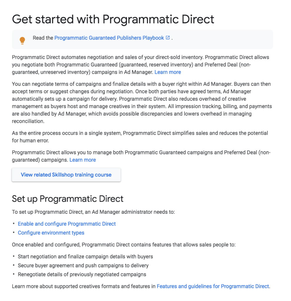 Programmatic Direct