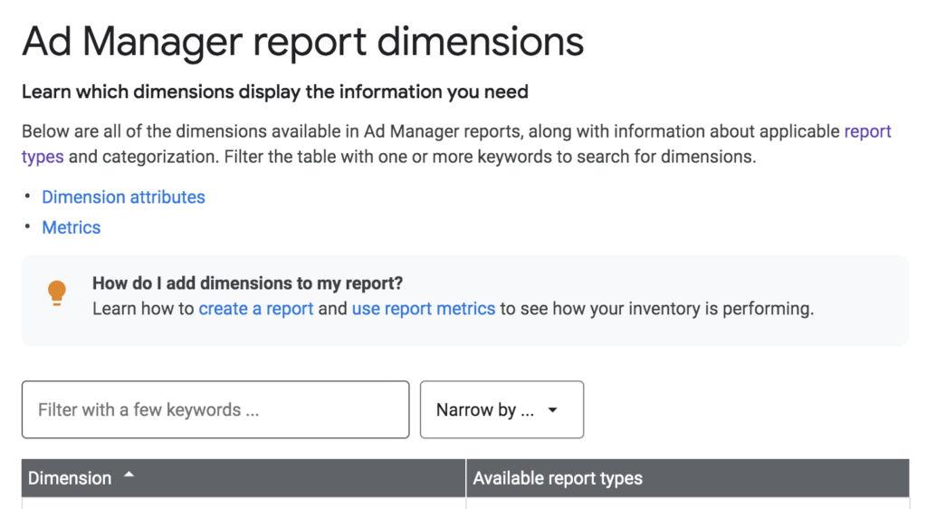 Reportes de Google Ad Manager