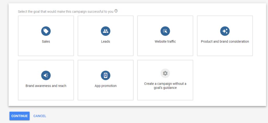 Anuncios responsivos en la red de display de Google. Objetivos de Campaña.
