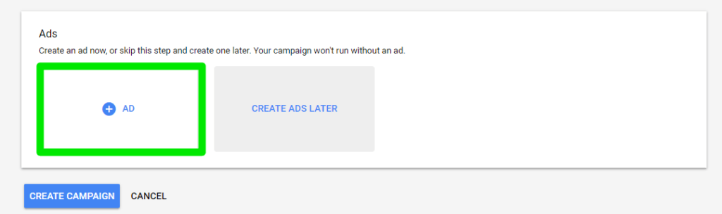 Anuncios responsivos en Google. Crear Campaña.