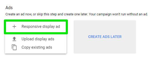 Opción Anuncios responsivos en Google