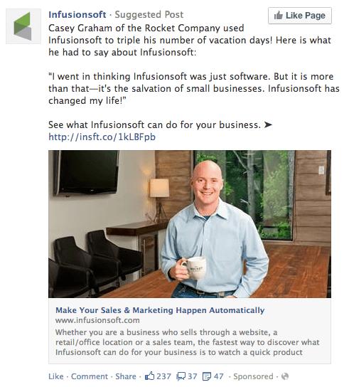 testimonio de clientes en anuncios de facebook