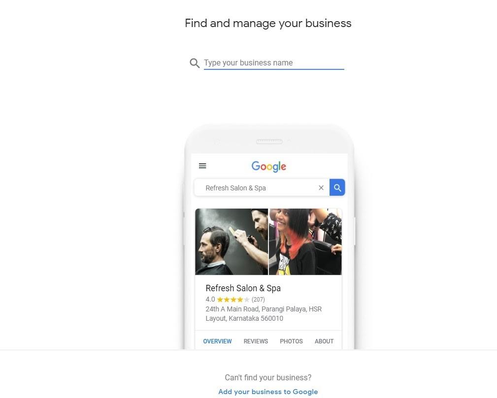 Google My Business. Perfil de Google Maps