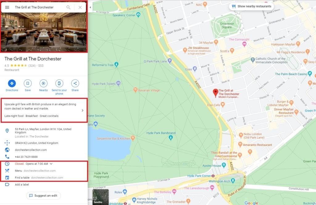 Google My Business. Más opciones