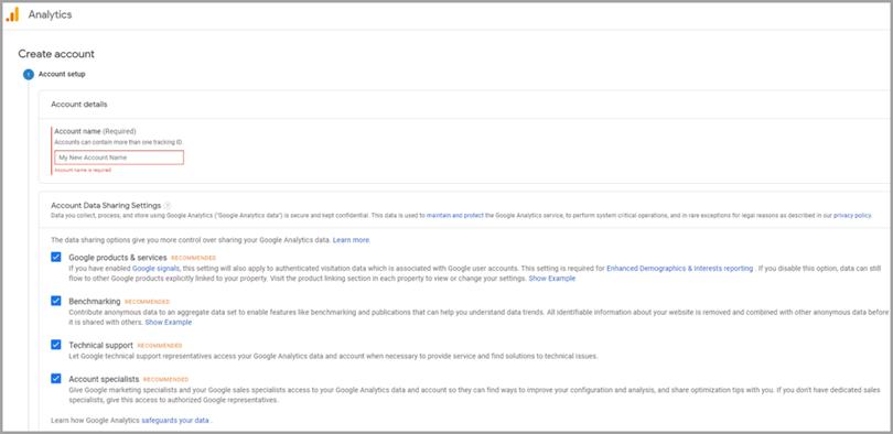 Google Analytics creacion de cuenta para tienda de dropshipping