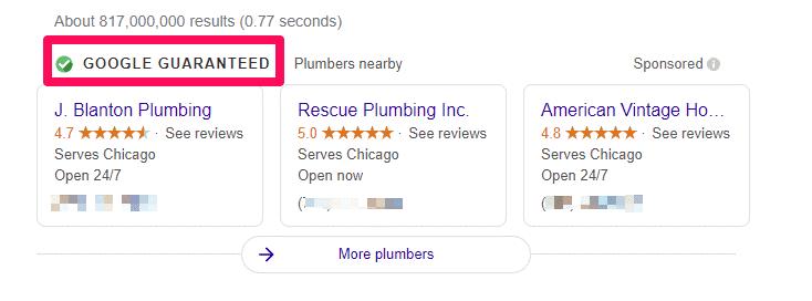 Insignia de Garantía de Google