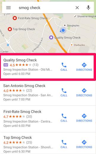 Google Maps. Búsquedas locales