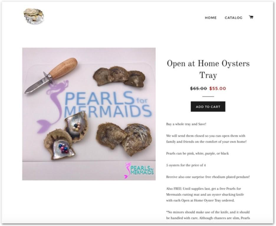 Tienda de Pearls for Mermaids en Shopify