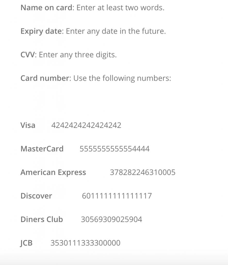 Pagar con tarjeta de crédito en Shopify
