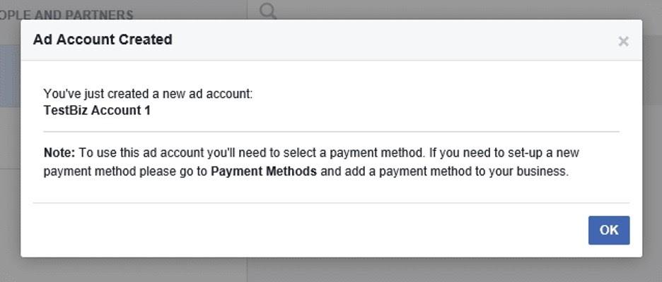 Configuración del administrador comercial en Facebook
