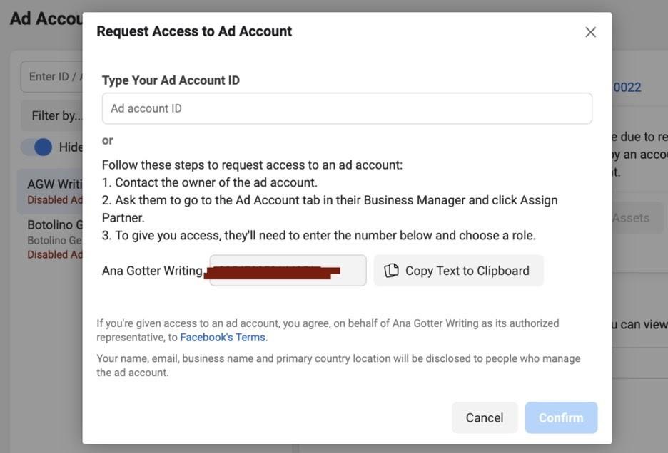 Reclamar acceso de página en Facebook