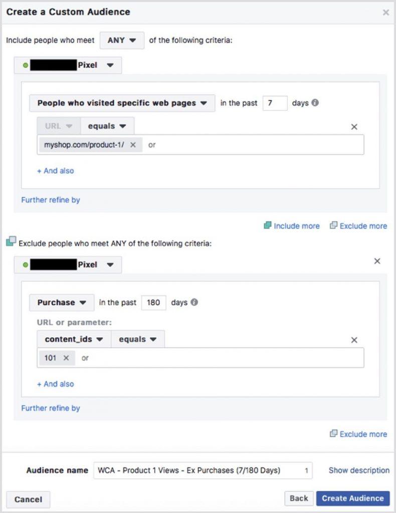 Audiencia personalizada en Facebook