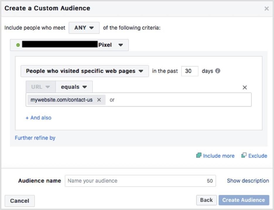 Crear audiencia personalizada en Facebook
