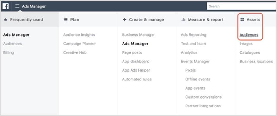 Crear audiencias personalizadas en Facebook