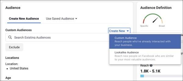 Público personalizado en pixel de facebook