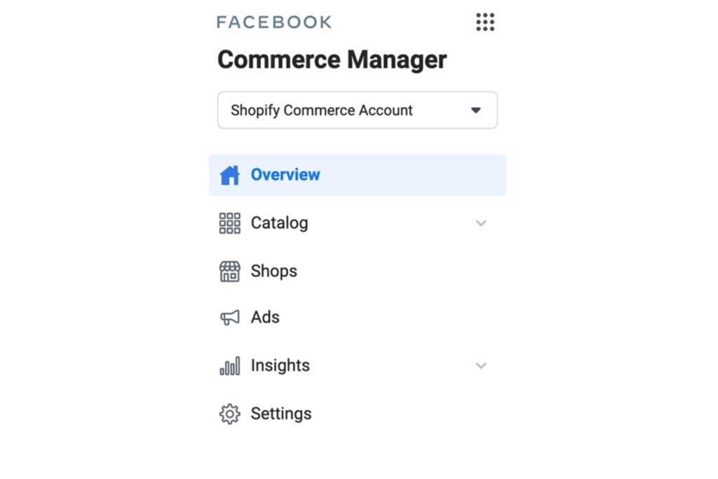 Commerce Manager de facebook