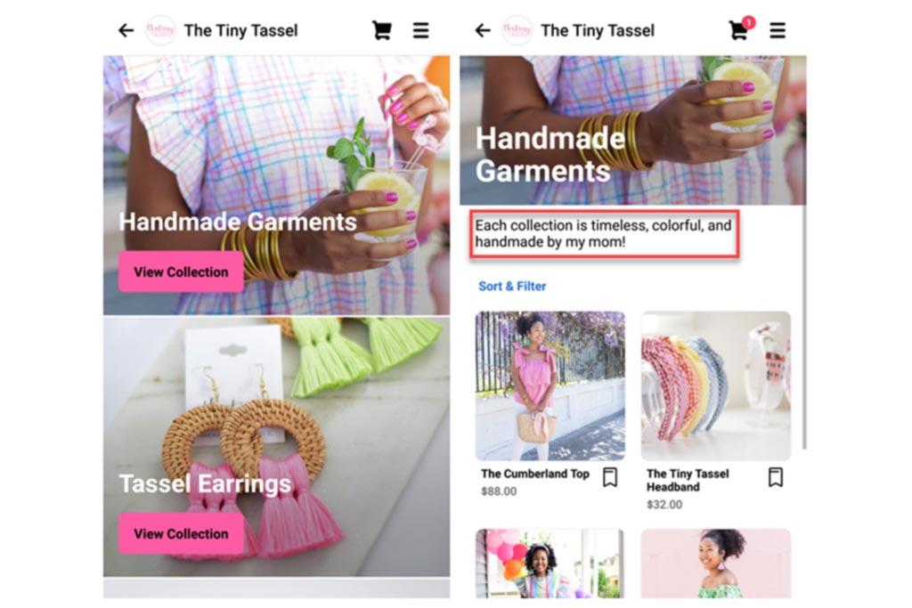 The Tiny Tassel ofrece una gama de coloridas joyas
