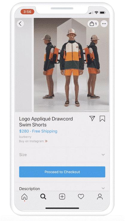 Descripción del producto en Instagram Shopping