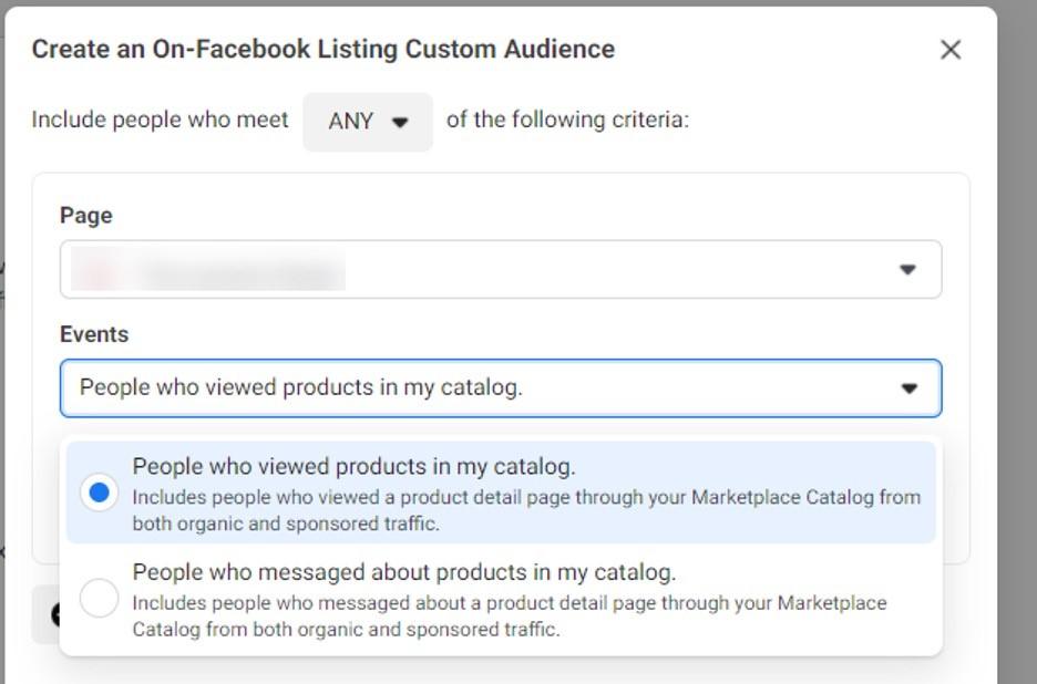 Listados de audiencias personalizadas en Facebook