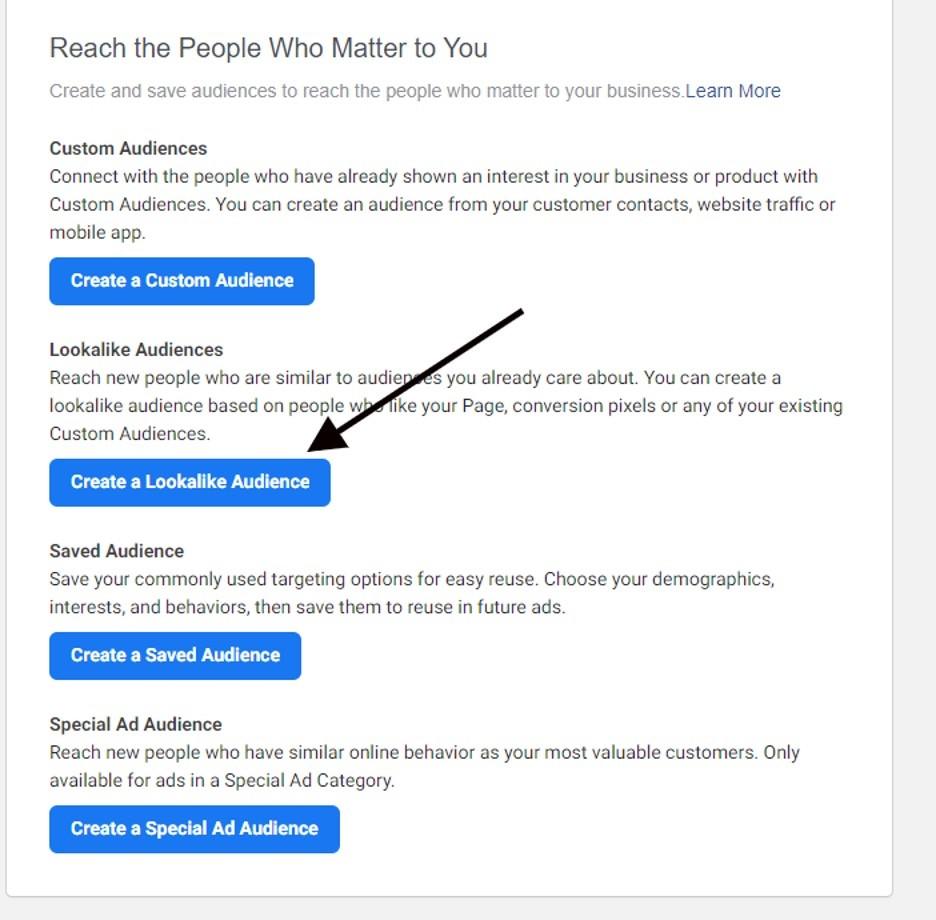alcanzar audiencias personalizadas de interés en Facebook
